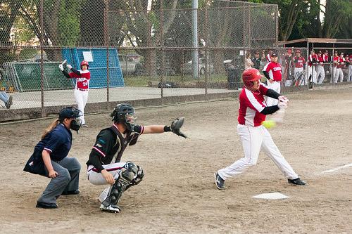 2014 Canada Junior Mens National Softball Team VS. New Zealand Exhibition Game 2014-07-06 133-LR